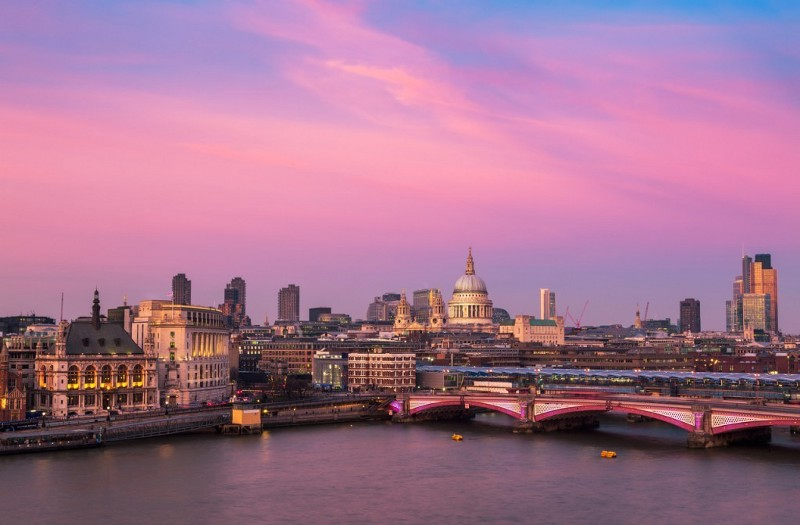 Sunset from the OXO Tower