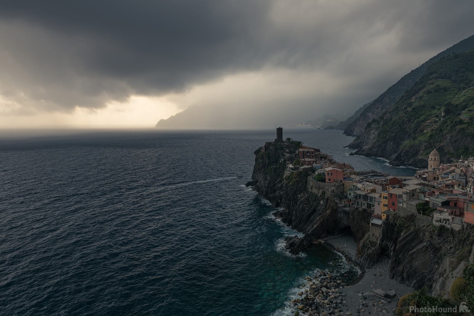 Storm approaching Vernazza Village
