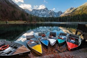 photography locations in Friuli Venezia Giulia - The Lower Mangart Lake
