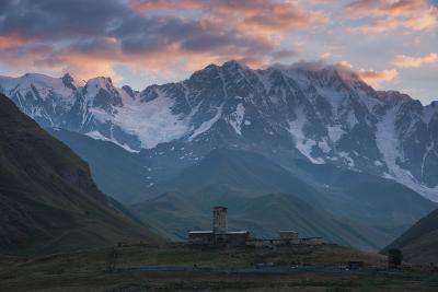 photography locations in Georgia - Mt Shkhara and  Lamaria Monastery