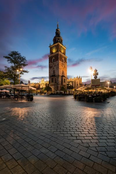 photography spots in Krakow - Town Hall Tower (Ratusz) from SW