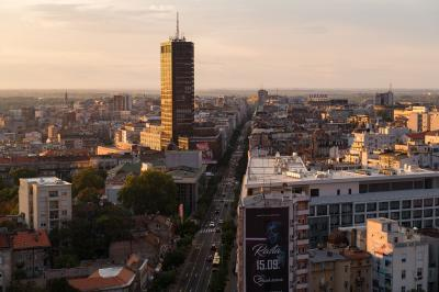 pictures of Belgrade - Belgrade from Slavija Hotel Rooftop