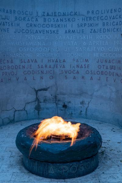 photo spots in Bosnia and Herzegovina - Eternal Flame (Vječna Vatra)