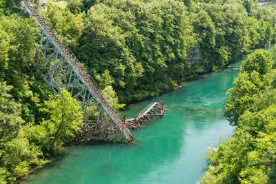 instagram spots in Bosnia and Herzegovina - Broken Bridge on Neretva
