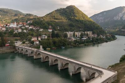 photography spots in Bosnia and Herzegovina - Mehmed Paša Sokolović Bridge Elevated View