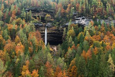 photography locations in Triglav National Park - Peričnik Waterfall across the Valley