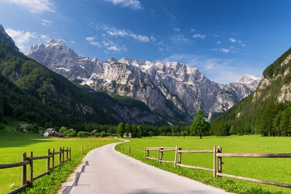 Logarska Valley from Hotel Plesnik