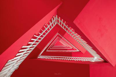 Iconic Red Staircase