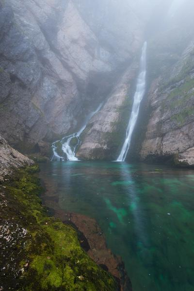 pictures of Lakes Bled & Bohinj - Savica Waterfall