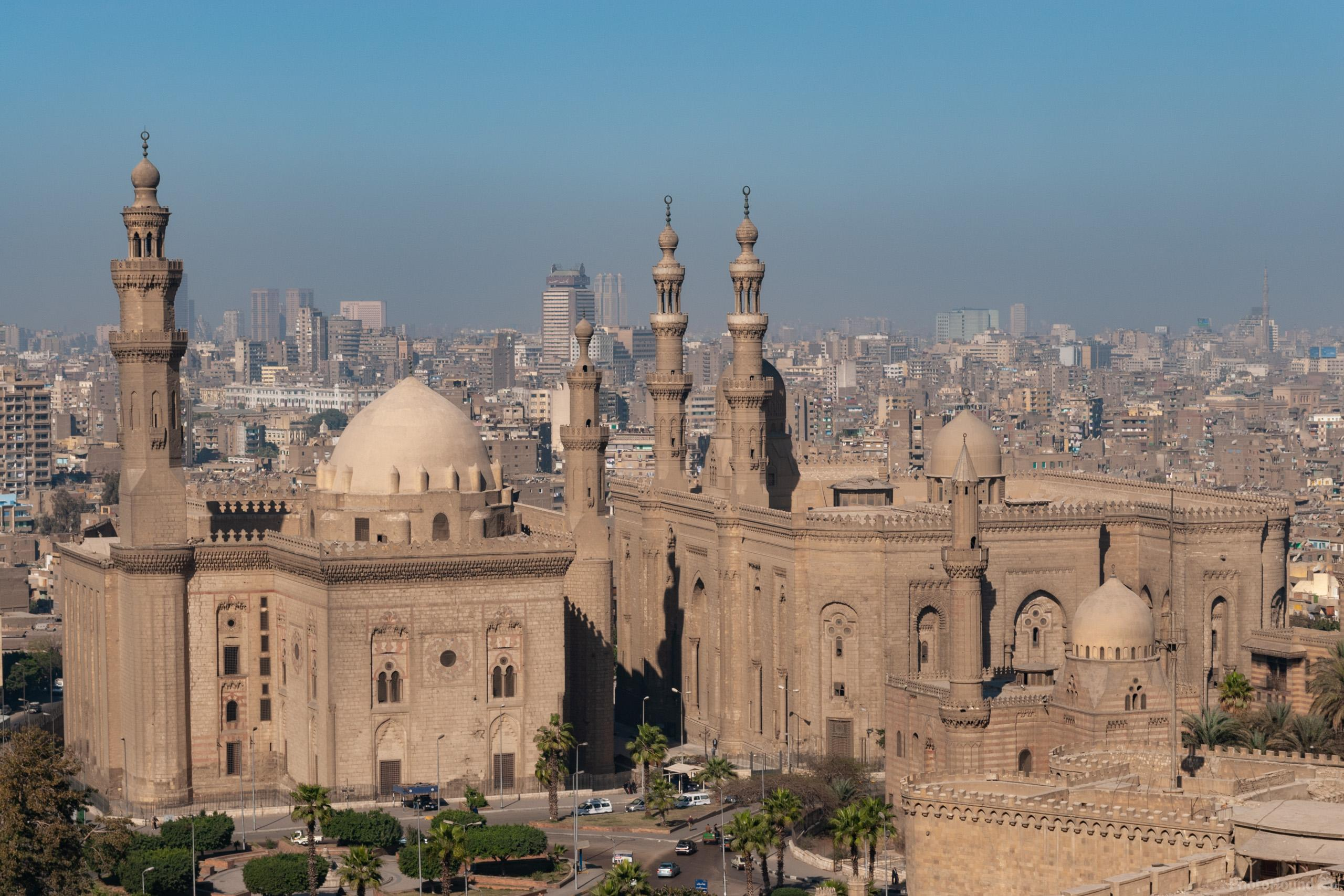 Views NE to the mosques of Sultan Hassan and Al-Rifai