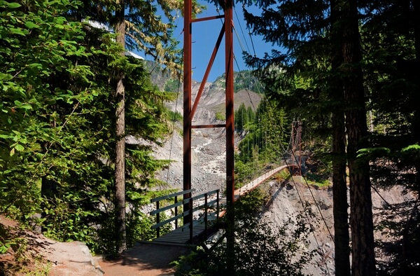 Tahoma Creek Bridge on the Wonderland Trail