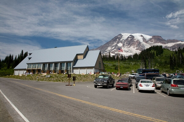 Paradise Visitor Center and Parking Lot