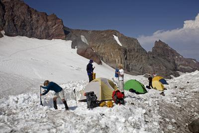 Image of Camp Muir, Mount Rainier National Park - Camp Muir, Mount Rainier National Park