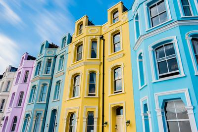 photo locations in South Wales - Pastel Houses