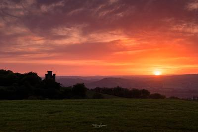 Carmarthenshire photo locations - Paxton Tower & Towy Valley Viewpoint