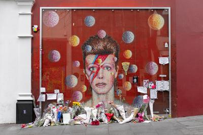 images of London - David Bowie Mural
