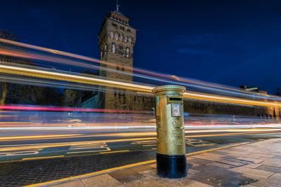photo locations in South Wales - Gold Postbox