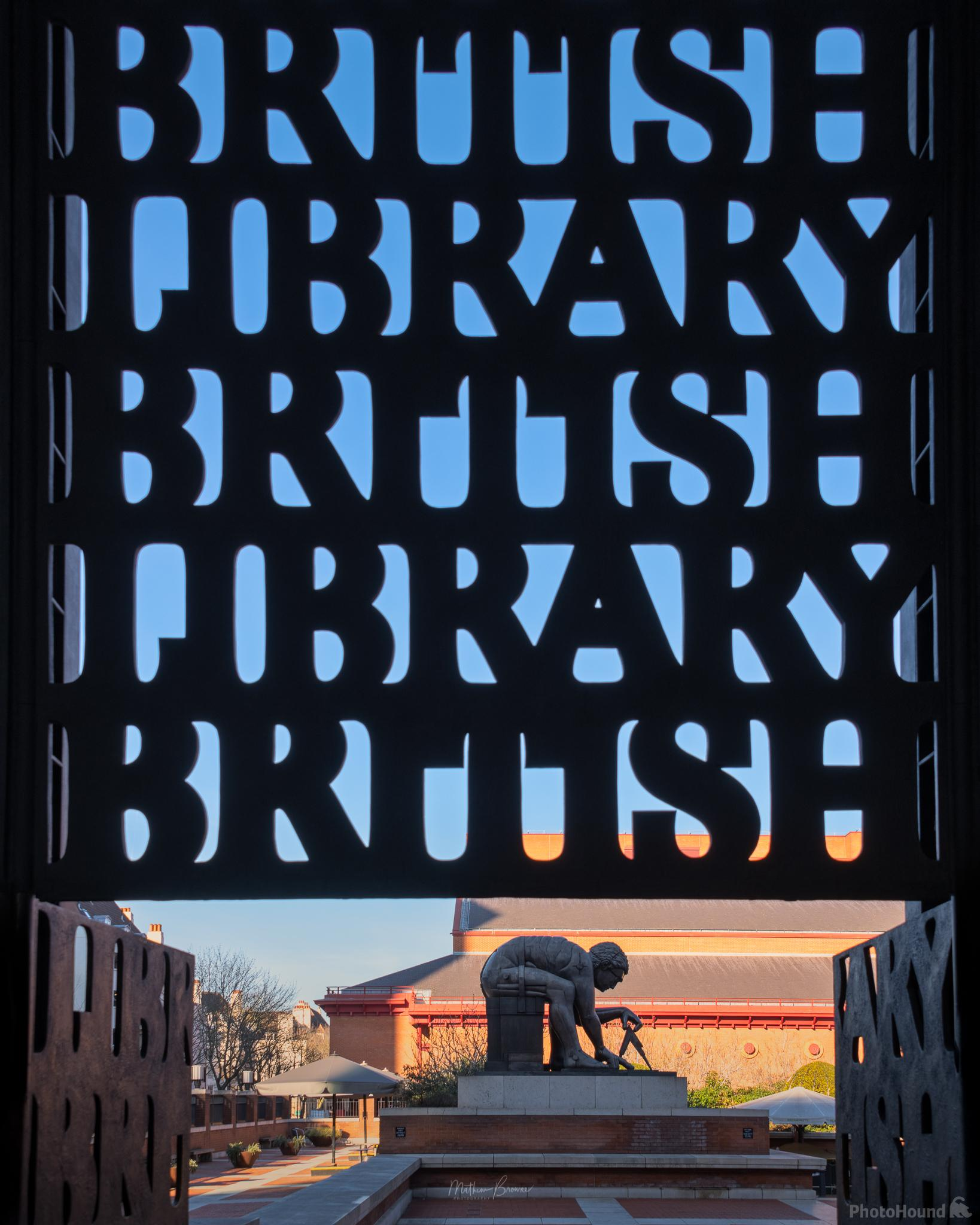 Entrance gate to the British Library