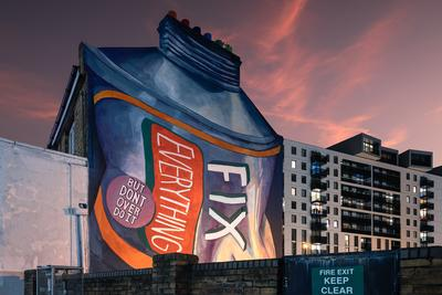 pictures of London - Fix Everything - Mural