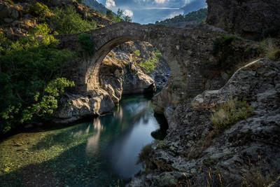 Corsica photography locations - Asco - The Genoise Bridge