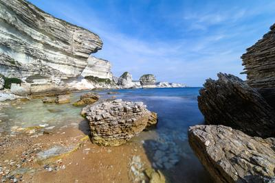 pictures of Corsica - Bonifacio Cliffs – from the beach