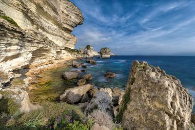photos of Corsica - Bonifacio Cliffs – from the beach