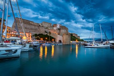 Corsica photography locations - View of the Citadella, Calvi Harbour from the harbor