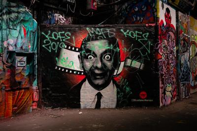 images of London - Leake Street Graffiti Tunnel