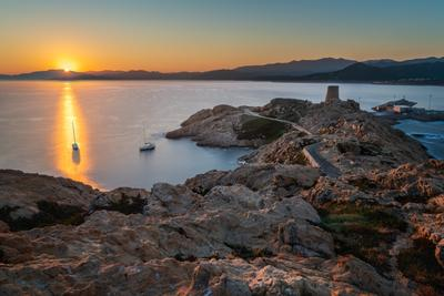 images of Corsica - Ile de la Pietra - Genoise Tower from the Lighthouse