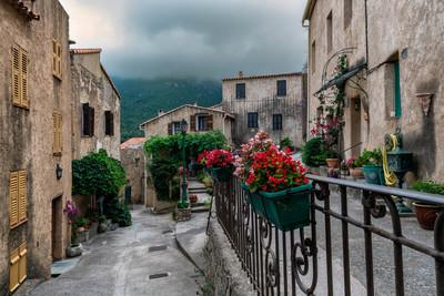 images of Corsica - Palasca - the streets