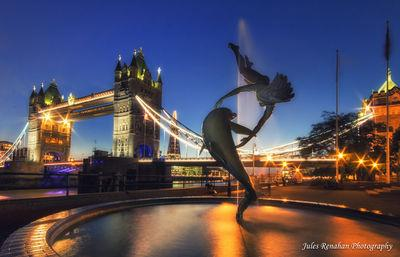 pictures of London - Girl with a Dolphin Fountain