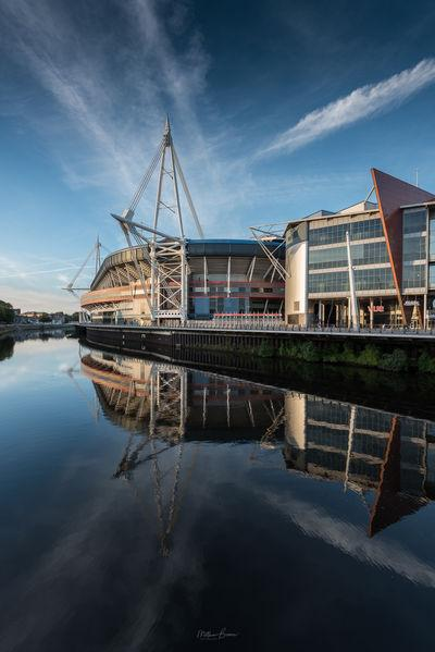 photo locations in South Wales - Millennium Stadium & Taff River