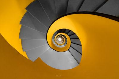 pictures of Geneva - Yellow Spiral Staircase