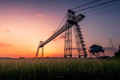 photography spots in South Wales - Newport Transporter Bridge - Sunset Viewpoint