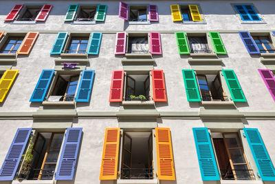 images of Geneva - Coloured Shutters