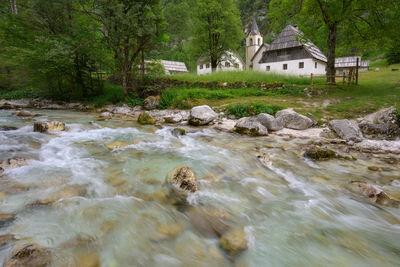 photography locations in Triglav National Park - Soča River and Church in Trenta Valley