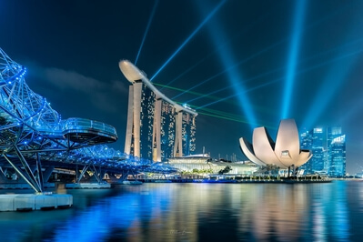 What's on in Singapore - Marina Bay Light Show