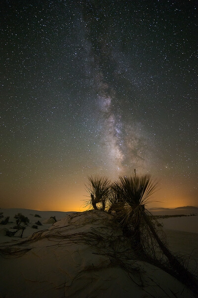 White Sands National Monument at Night