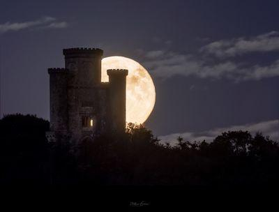 United Kingdom events - Paxton's Tower - Moonrise & Sunrise