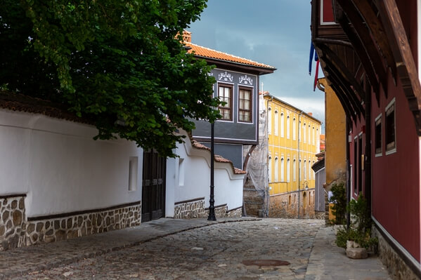 coble streets of Plovdiv old town