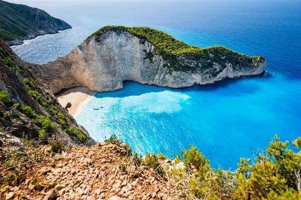 View of the Navagio Beach