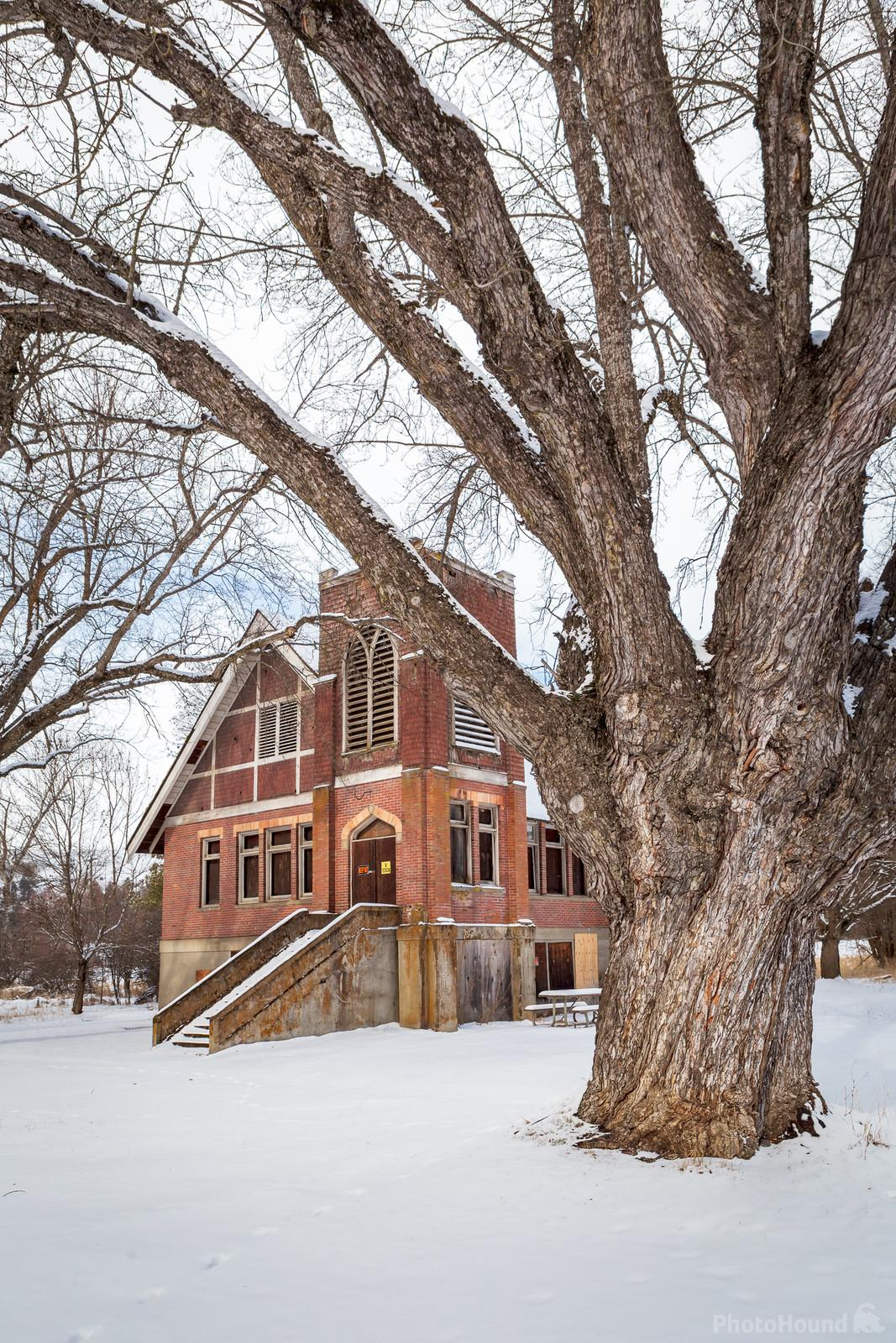 Old United Brethren Church in winter