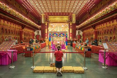 Buddha Tooth Relic Temple - Interior