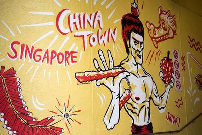 photo locations in Singapore - Bruce Lee Mural