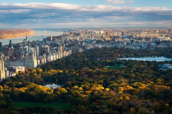 Autumn in the Central Park, shot in the morning