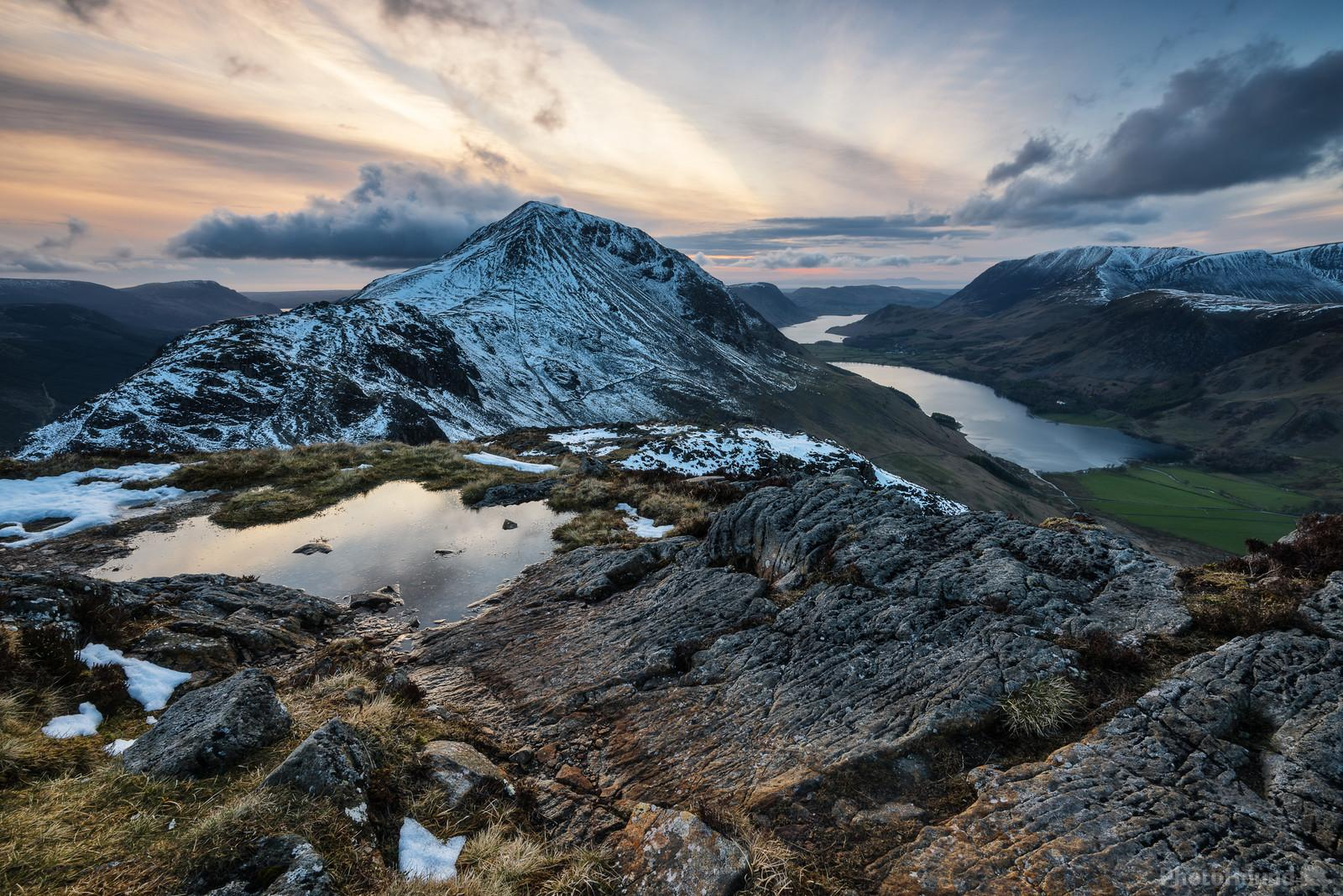 Sunset from the summit of Haystacks
