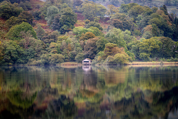 Rydal boathouse from the southern shore.