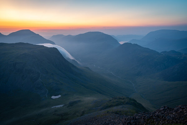 Blue hour shot towards Kirk Fell