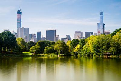 New York instagram spots - Central Park - view over The Lake