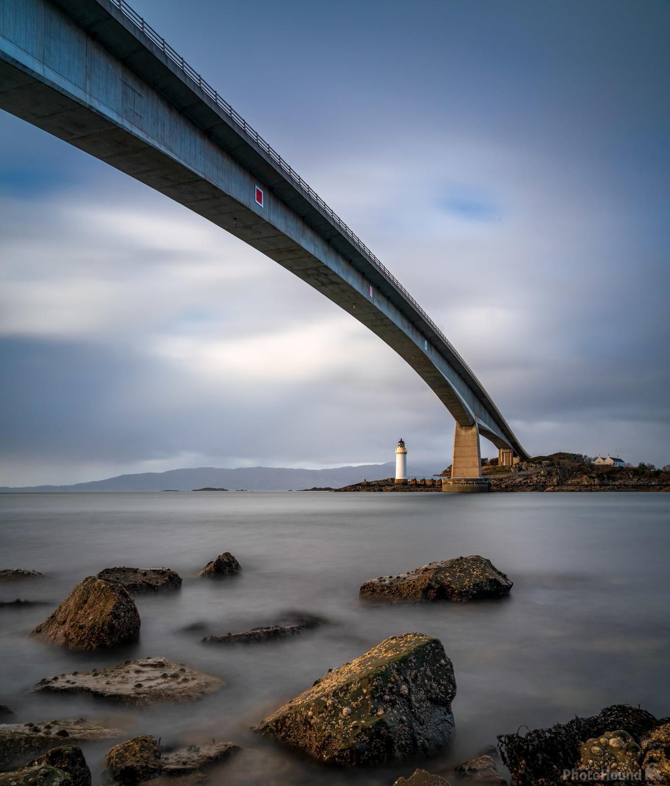 The Skye Bridge captured from under the bridge on the island side near Kyleakin village.